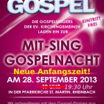 Plakat der 7. Rheinbacher Gospelnacht