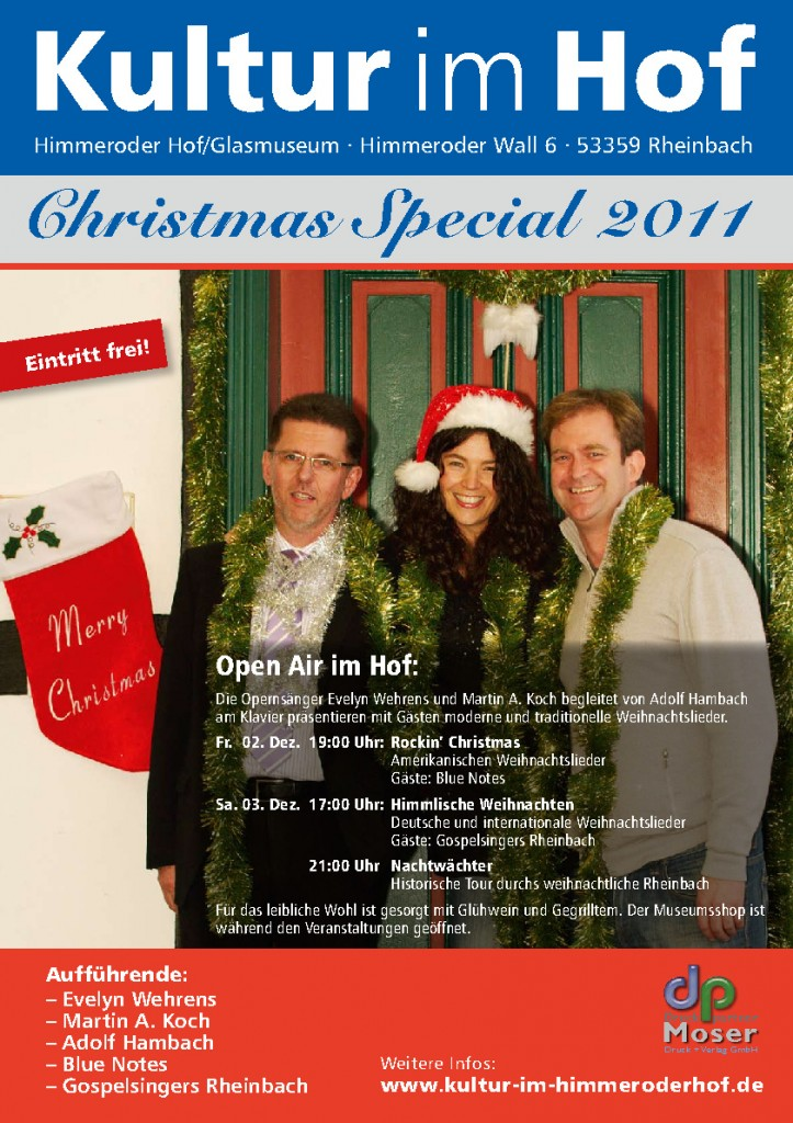 Plakat für Christmas Special im Dezember 2011