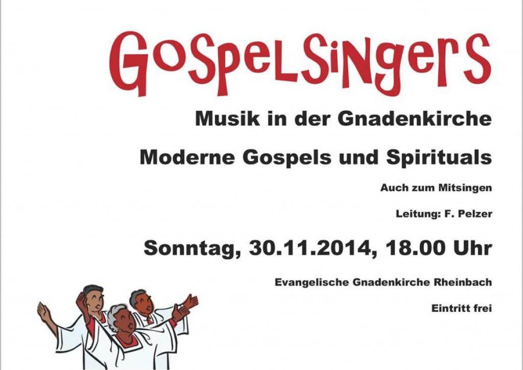 Musik in der Gnadenkirche - Gospelsingers Konzert am 30.11.2014